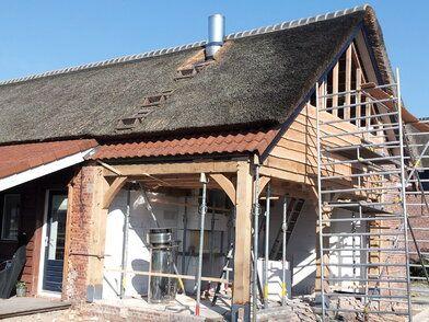 Realiseren buitenterras in woonboerderij - Realiseren buitenterras in woonboerderij FOTO